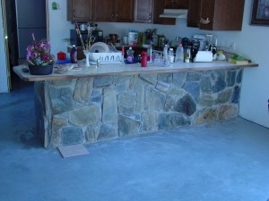 Stone work on Counter 3